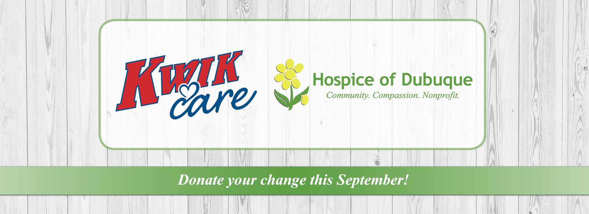 Kwik Stop Canisters for Hospice of Dubuque